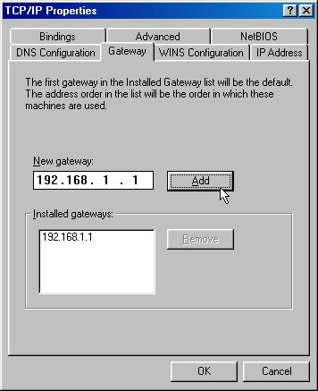TCP/IP Gateway Settings